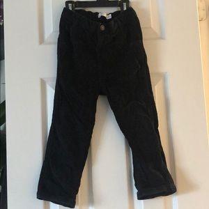 Baby M&Co size 2/3 black corduroy pants